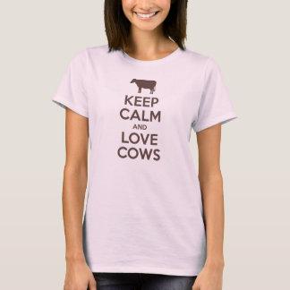 Keep Calm and Love Cows (mocha) T-Shirt