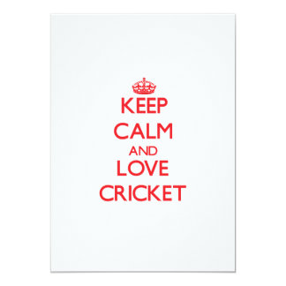 Keep calm and love Cricket Card