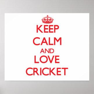 Keep calm and love Cricket Print
