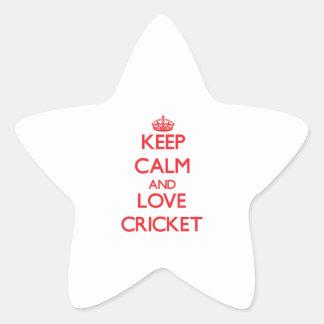 Keep calm and love Cricket Sticker