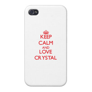 Keep calm and love Crystal iPhone 4/4S Cases