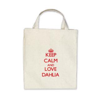 Keep Calm and Love Dahlia Canvas Bag