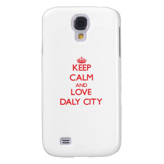 Keep Calm and Love Daly City HTC Vivid Covers