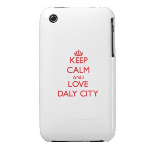 Keep Calm and Love Daly City iPhone 3 Case-Mate Cases