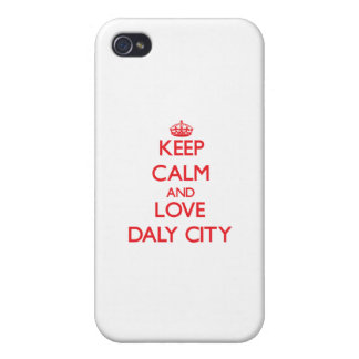 Keep Calm and Love Daly City iPhone 4/4S Cases