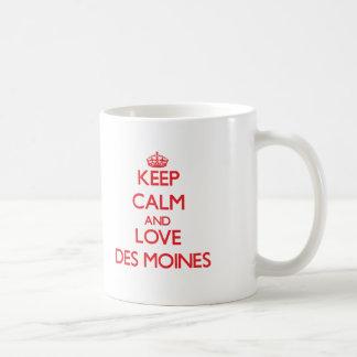 Keep Calm and Love Des Moines Coffee Mugs