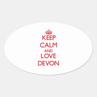 Keep Calm and Love Devon Sticker