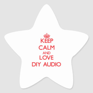 Keep calm and love Diy Audio Star Stickers