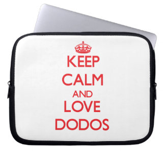 Keep calm and love Dodos Laptop Computer Sleeve