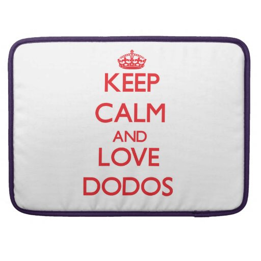 Keep calm and love Dodos MacBook Pro Sleeves