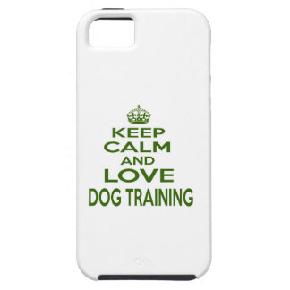 Keep Calm And Love Dog Training iPhone 5/5S Cases
