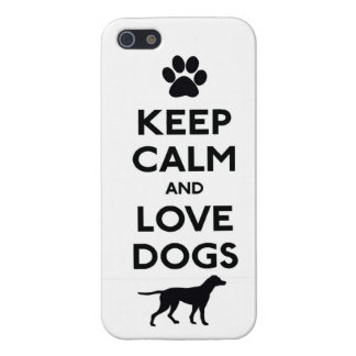 Keep calm and love Dogs iPhone 5/5S Cases
