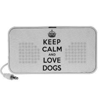 Keep Calm and Love Dogs Laptop Speakers