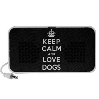 Keep Calm and Love Dogs Travel Speakers