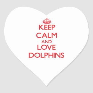 Keep calm and love Dolphins Stickers
