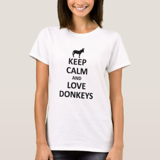Keep calm and love Donkeys T-Shirt