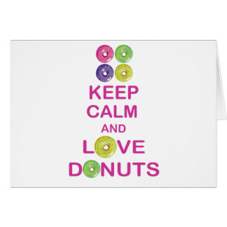 Keep Calm and Love Donuts Unique Doughnut Gift Card