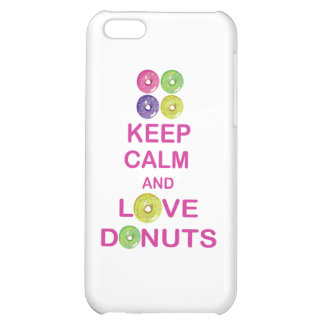 Keep Calm and Love Donuts Unique Doughnut Gift iPhone 5C Cover