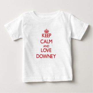 Keep Calm and Love Downey Tshirt
