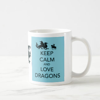 Keep Calm and Love Dragons Coffee Mug
