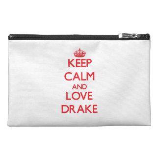 Keep calm and love Drake Travel Accessory Bag