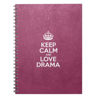 Keep Calm and Love Drama - Pink Leather Notebook