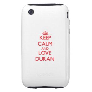 Keep calm and love Duran Tough iPhone 3 Covers
