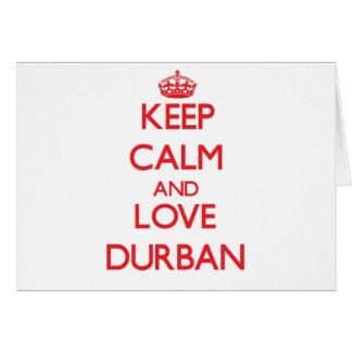 Keep Calm and Love Durban Card