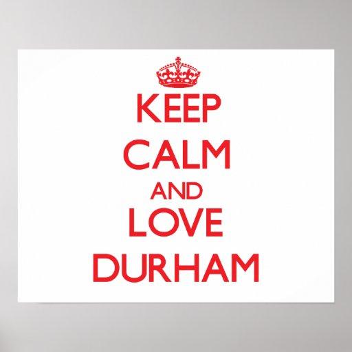Keep Calm and Love Durham Print