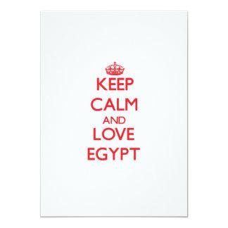 Keep Calm and Love Egypt 13 Cm X 18 Cm Invitation Card