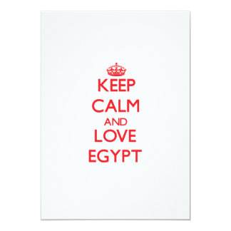 Keep Calm and Love Egypt Personalized Invite