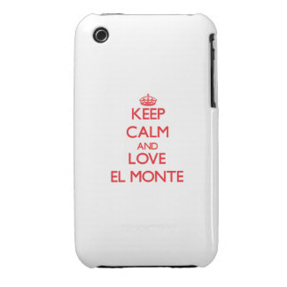 Keep Calm and Love El Monte iPhone 3 Case