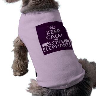 Keep Calm and Love Elephants (any color) Shirt