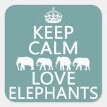 Keep Calm and Love Elephants (customisable