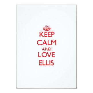 Keep Calm and Love Ellis 13 Cm X 18 Cm Invitation Card