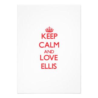 Keep calm and love Ellis Invite