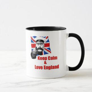 Keep Calm And Love England Mug