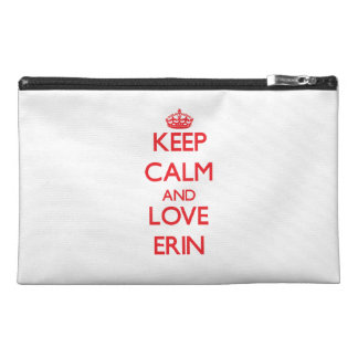 Keep Calm and Love Erin Travel Accessory Bag