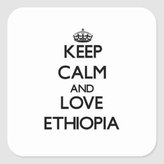 Keep Calm and Love Ethiopia Square Sticker