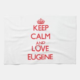 Keep Calm and Love Eugene Tea Towel