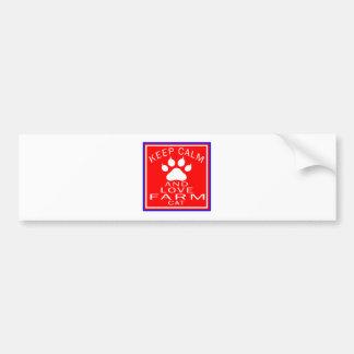 Keep Calm And Love Farm Bumper Stickers