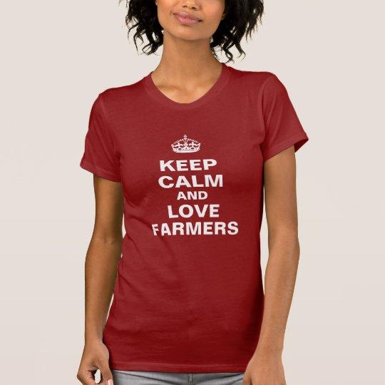 Keep calm and love farmers T-Shirt