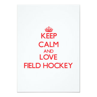 Keep calm and love Field Hockey Personalized Announcement