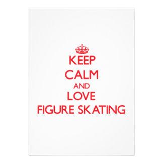 Keep calm and love Figure Skating Invites
