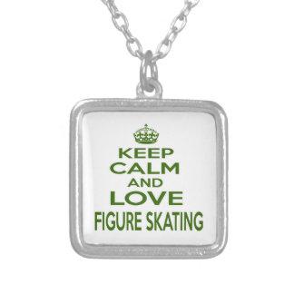 Keep Calm And Love Figure Skating Custom Jewelry