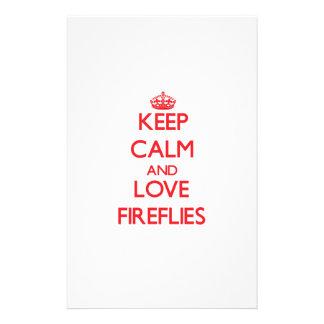 Keep calm and love Fireflies Stationery