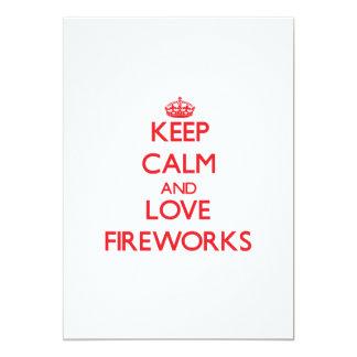 Keep calm and love Fireworks 13 Cm X 18 Cm Invitation Card