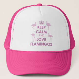 Keep Calm and Love Flamingos Hat