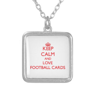 Keep calm and love Football Cards Custom Jewelry