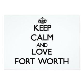 Keep Calm and love Fort Worth 13 Cm X 18 Cm Invitation Card